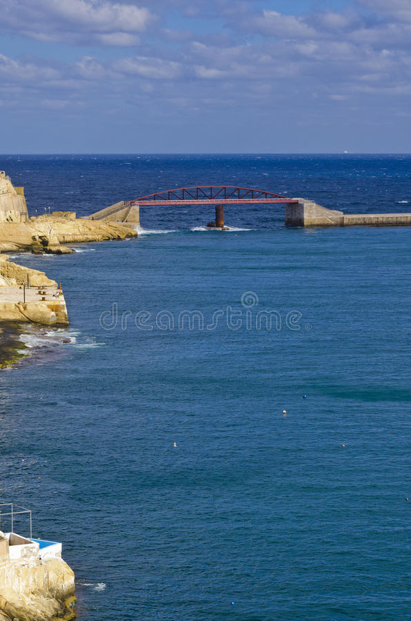 Harbor bridge, Valletta Malta royalty free stock images