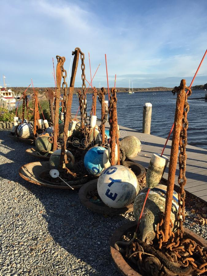 Free Harbor Buoys, Essex Connecticut Stock Photography - 47049672