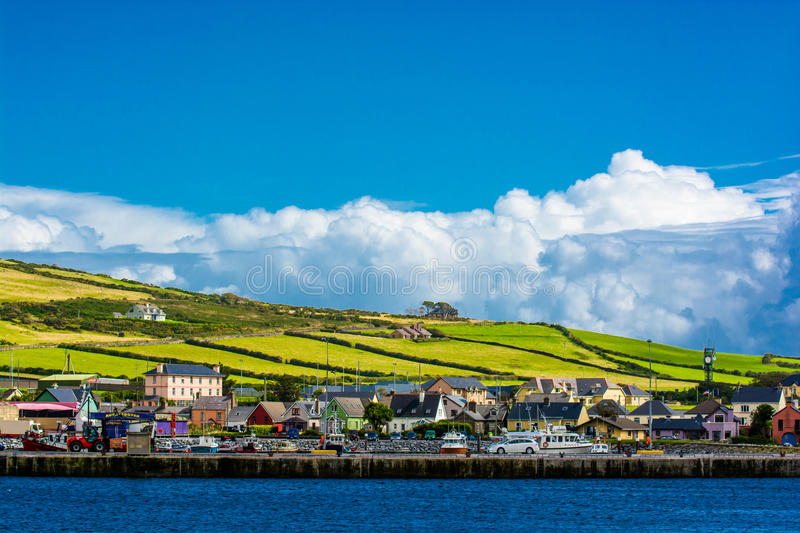 Harbor at the Coast of Dingle in Ireland. Harbor at the Scenic Coast of Dingle in Ireland royalty free stock image