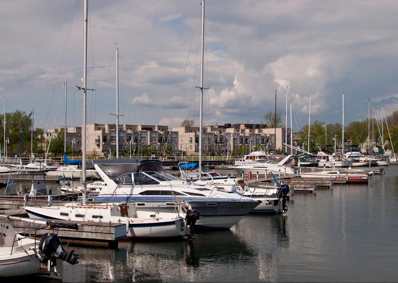 Harbor a Coburgo, Ontario immagini stock