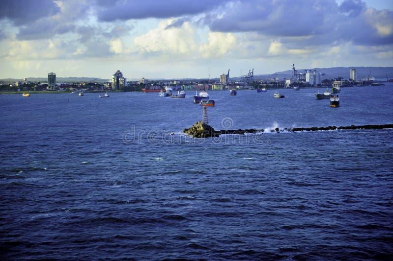 Harbor Colon Panama royalty free stock photo