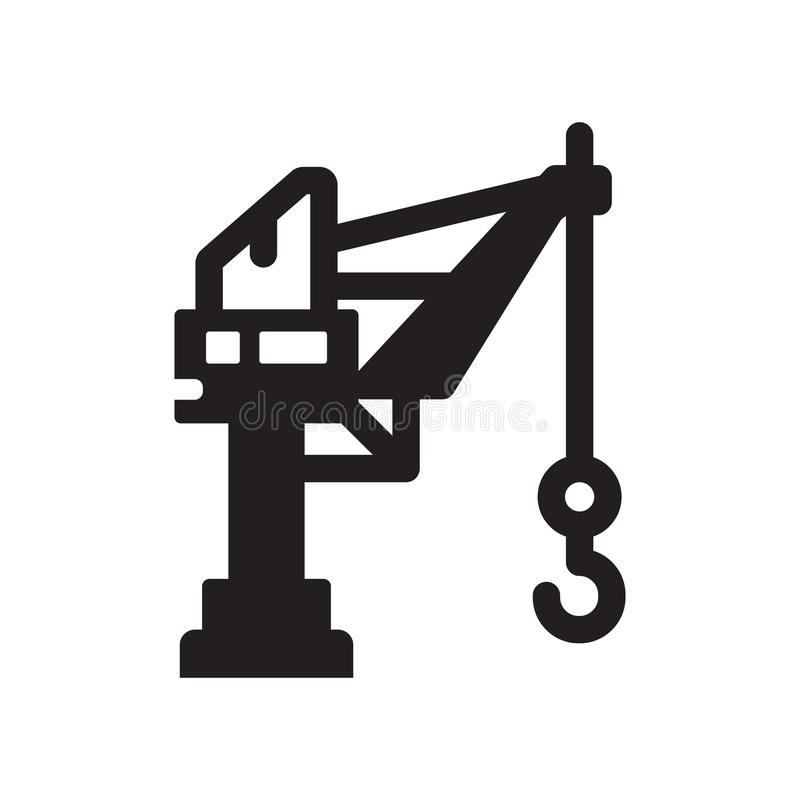 Harbor crane icon. Trendy Harbor crane logo concept on white background from Industry collection vector illustration