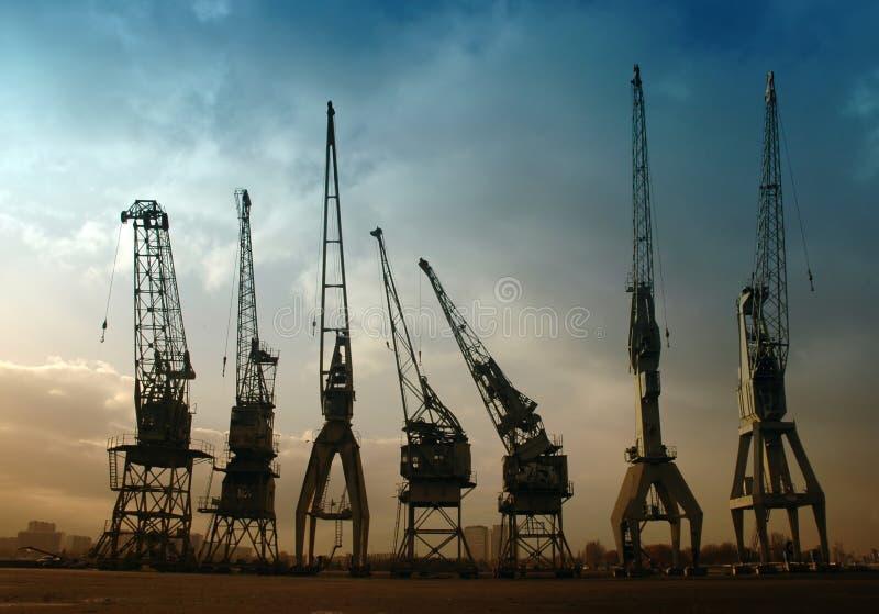Download Harbor Cranes Royalty Free Stock Image - Image: 3607926