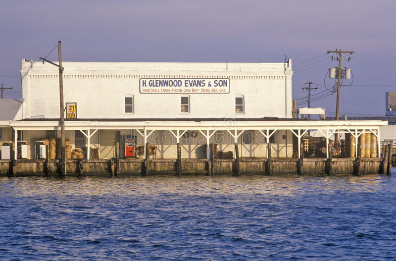 Harbor, Crisfield, Maryland stock images