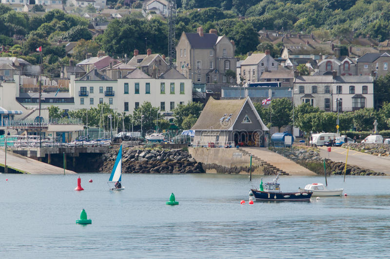 Harbor of Dublin Howth stock photo