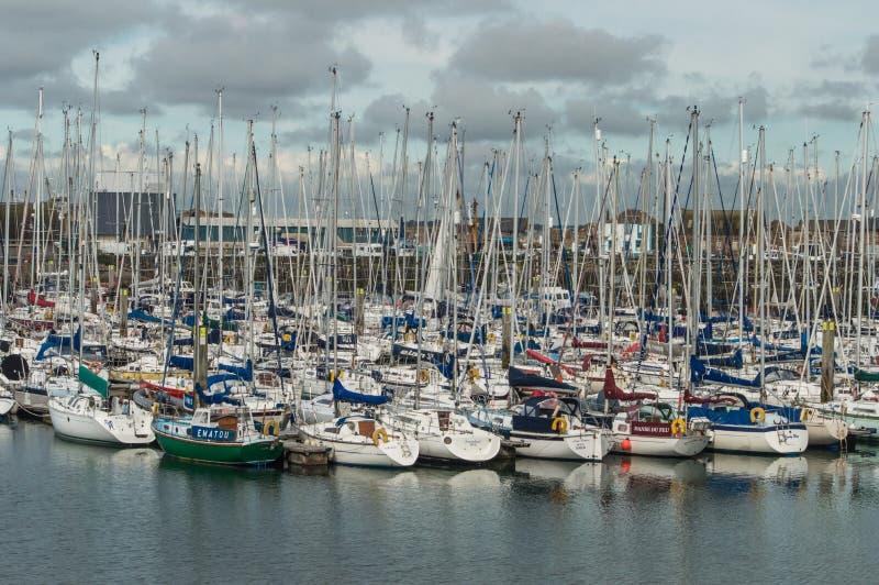 Harbor of Dublin Howth royalty free stock photos