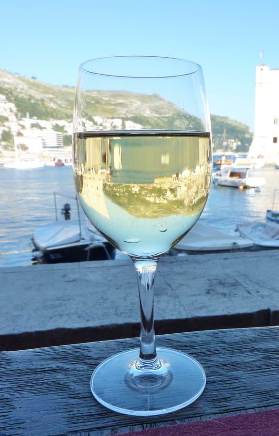 The harbor of Dubrovnik in Croatia royalty free stock photos