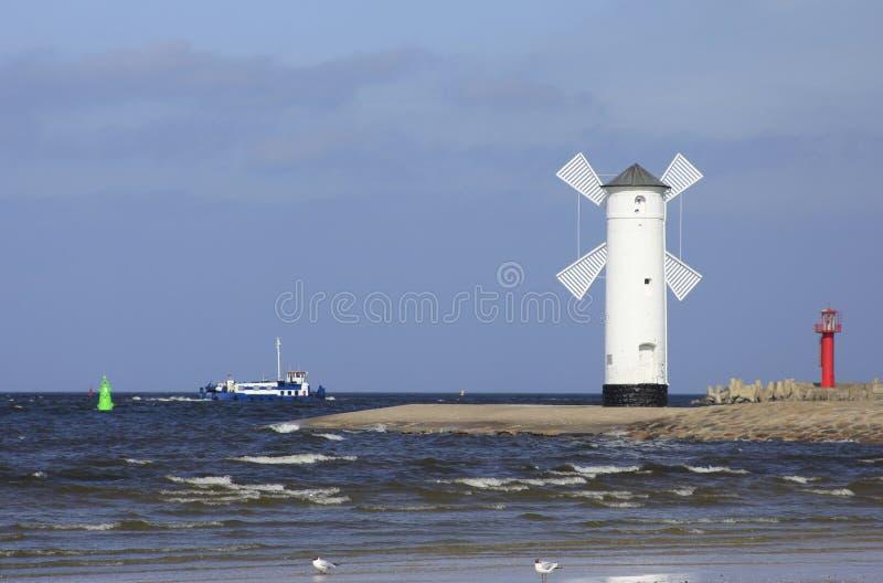 Download Harbor Entrance Of Swinoujscie, Poland Stock Image - Image: 23841875