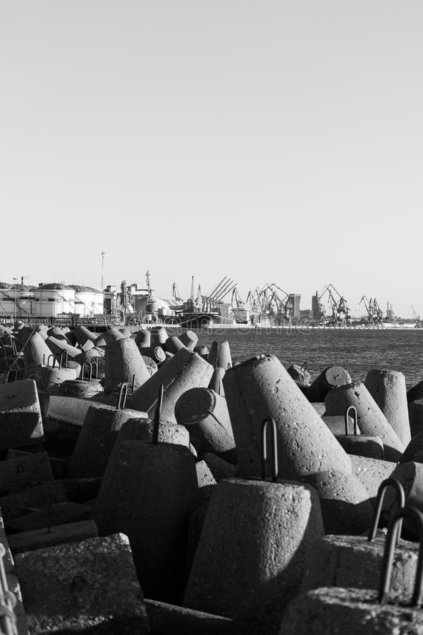 Harbor gates of klaipeda royalty free stock photography