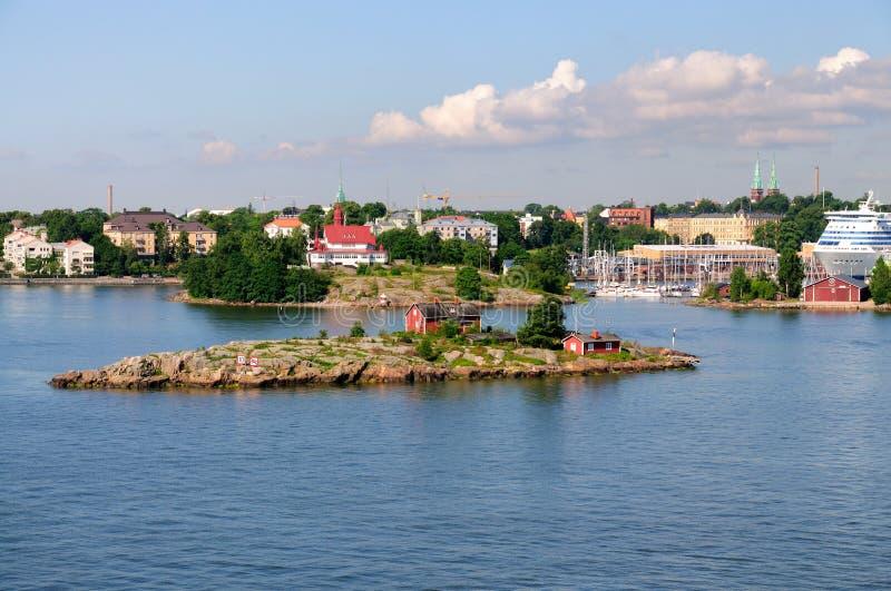 Harbor of Helsinki, Finland stock photo