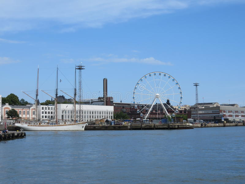 Download Harbor In Helsinki With SkyWheel Stock Photo - Image: 83711661