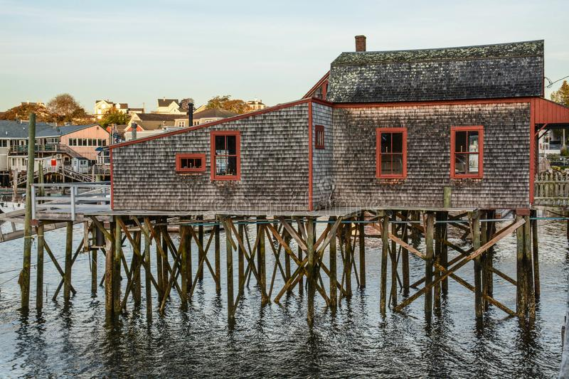 Harbor Highrise in Boothbay Harbor royalty free stock photo