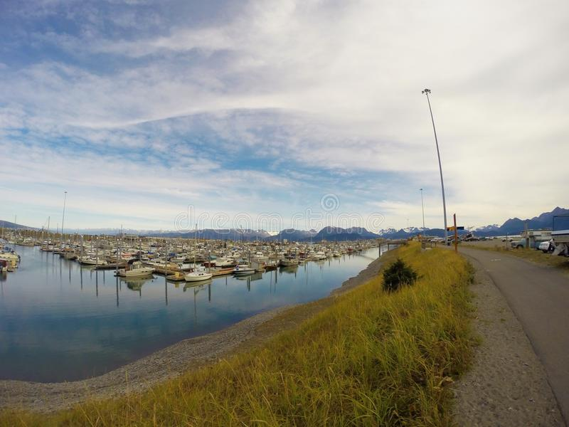 Harbor of Homer stock photography