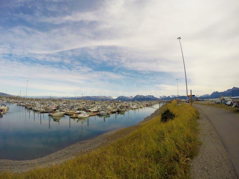 Harbor of Homer. Nice harbour of Homer, Alaska stock photography