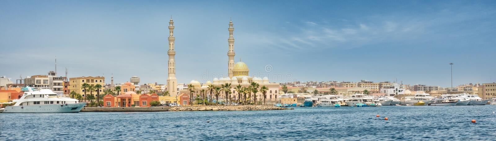 Harbor of Hurghada in Egypt royalty free stock image
