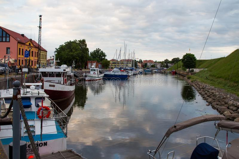 Harbor in Klaipeda for Yachts stock image