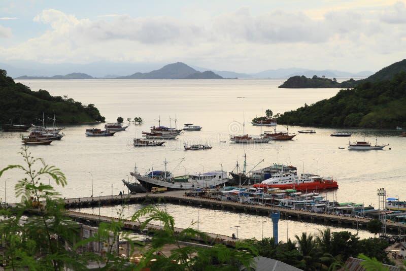Harbor in Labuan Bajo royalty free stock photography