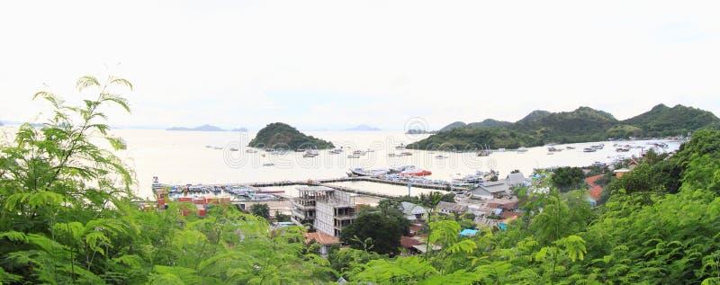 Harbor in Labuan Bajo royalty free stock images