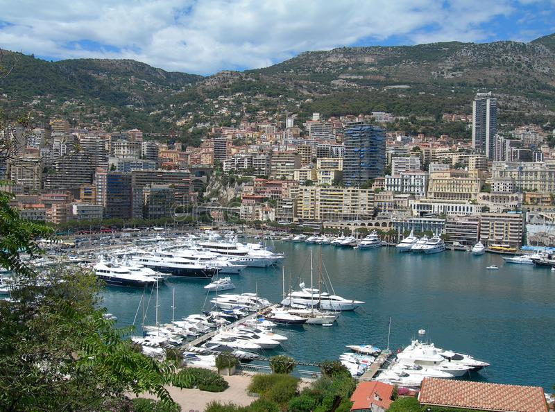 Harbor Monte-Carlo, Monaco royalty free stock photography