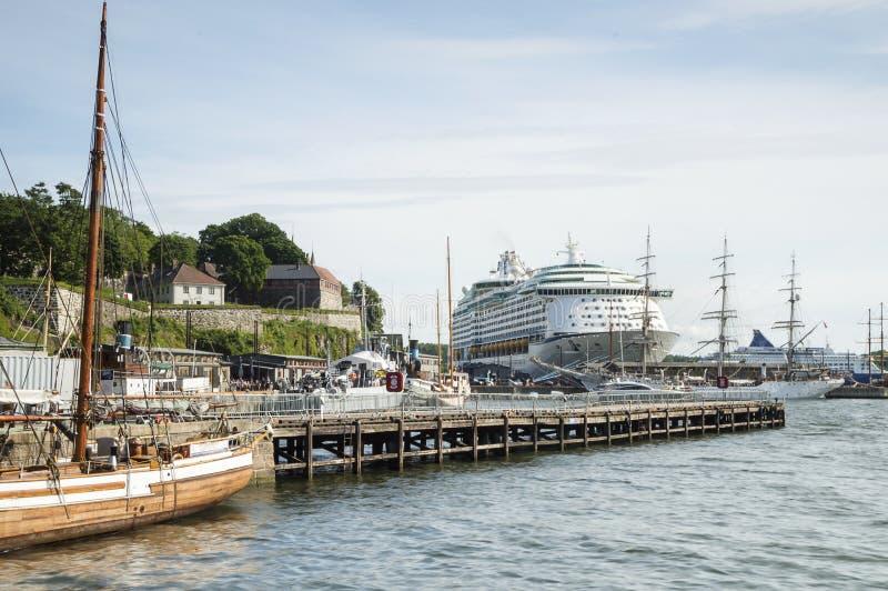 Harbor of Oslo, Norway stock photo