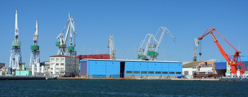 Harbor panorama stock image