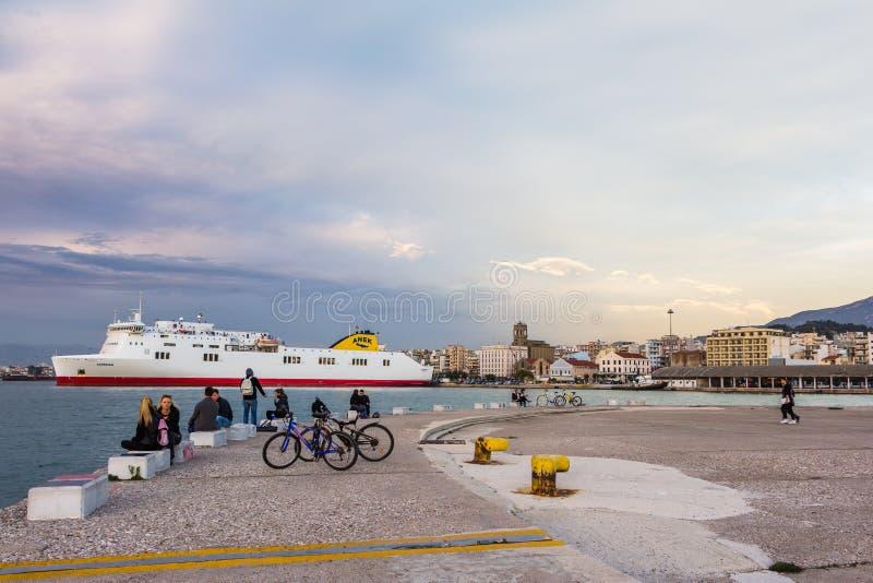 Harbor Patras Greece royalty free stock photography
