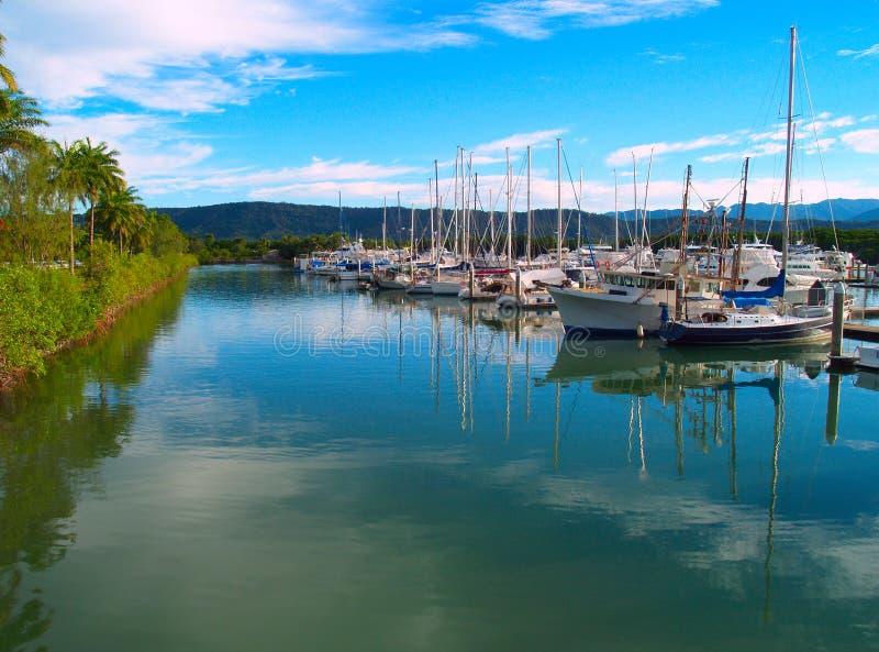 Harbor of Port Douglas stock photos
