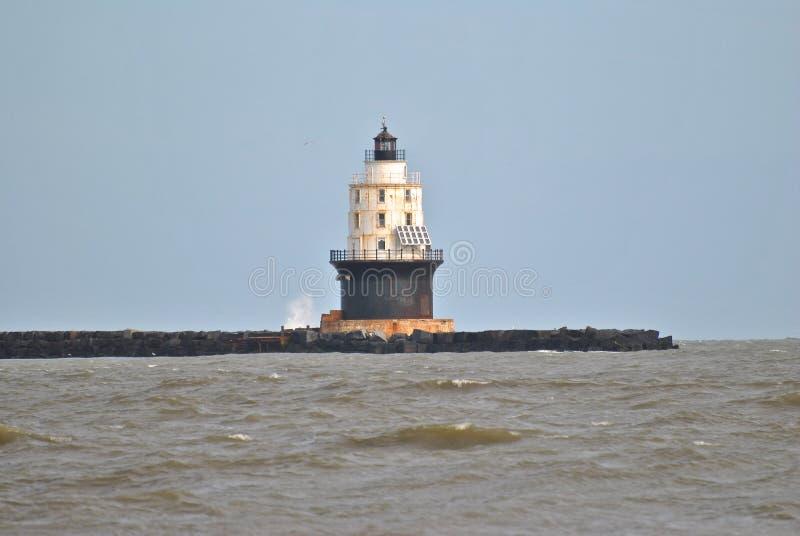 Harbor of Refuge Light royalty free stock image