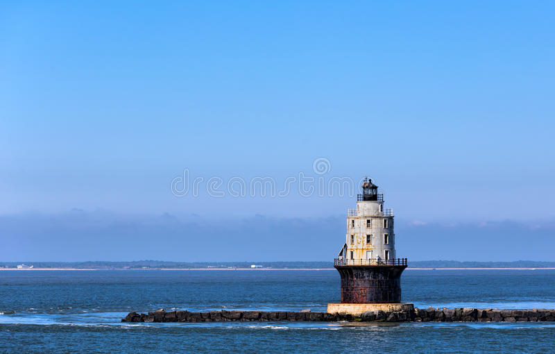 Harbor of Refuge Light Lighthouse in Delaware Bay at Cape Henlopen. Harbor of Refuge Light Lighthouse in the Delaware Bay at Cape Henlopen. It was originally royalty free stock images