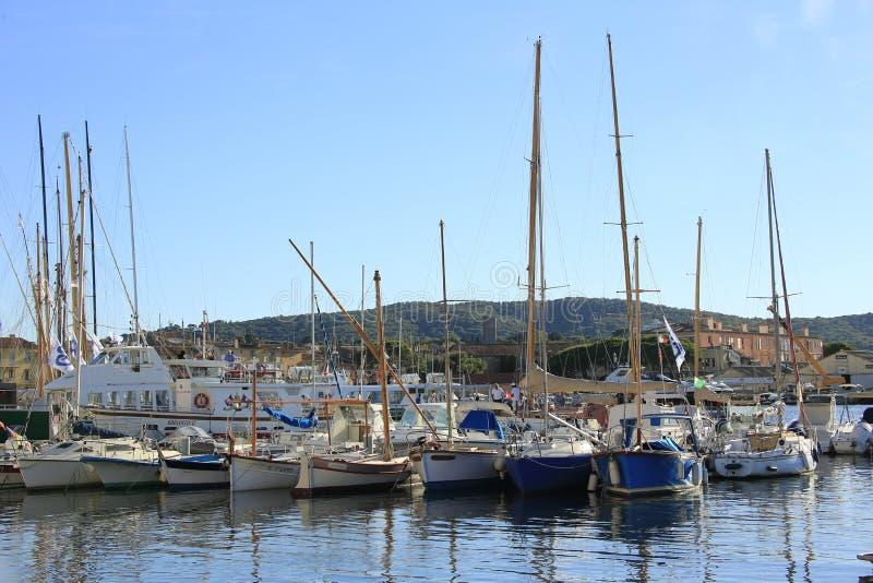 The harbor of Saint Tropez royalty free stock image
