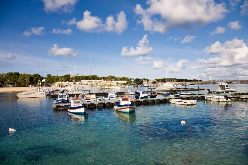 Harbor, San Vito Lo Capo, Sicily Stock Images