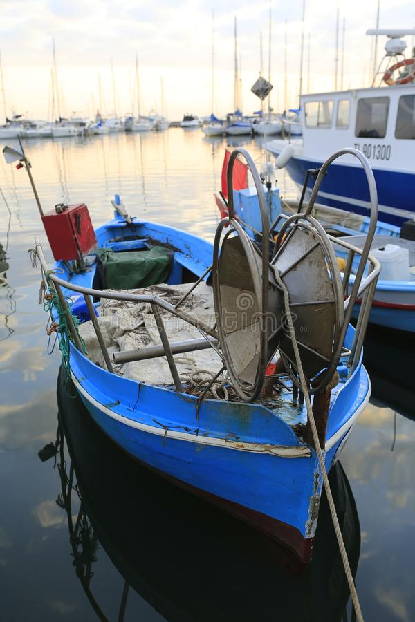 The harbor of Sanary sur Mer. In Provence in the french Riviera in the south of France stock images