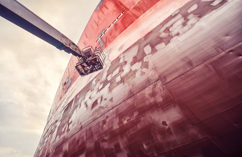 Harbor ship repair shop royalty free stock images