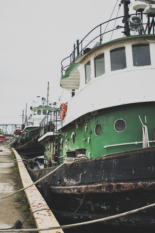 Harbor side stock photography