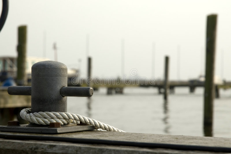 Harbor for small yachts. Harbor for small motorboats and sailboats for vacation stock image
