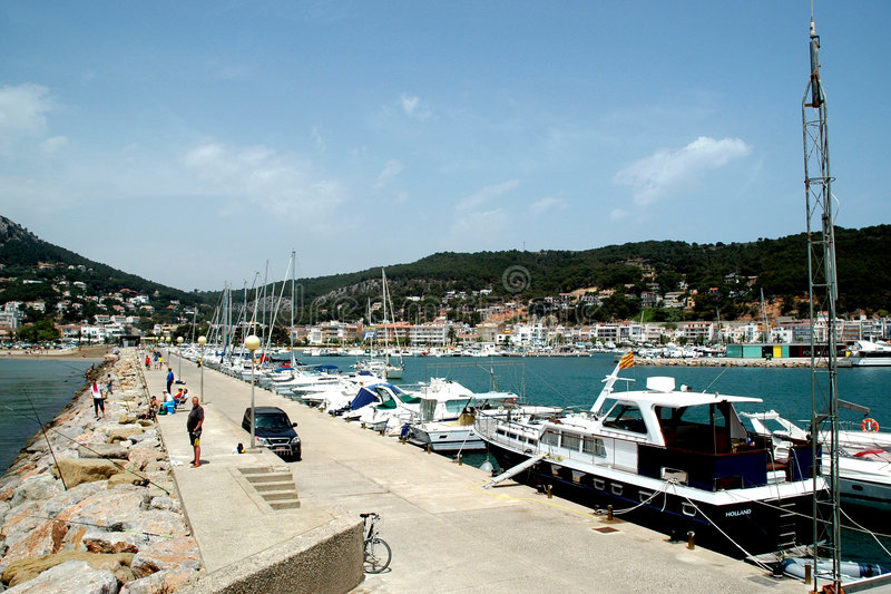 Harbor in Spain. Harbor at the eastern coast from Spain stock photo