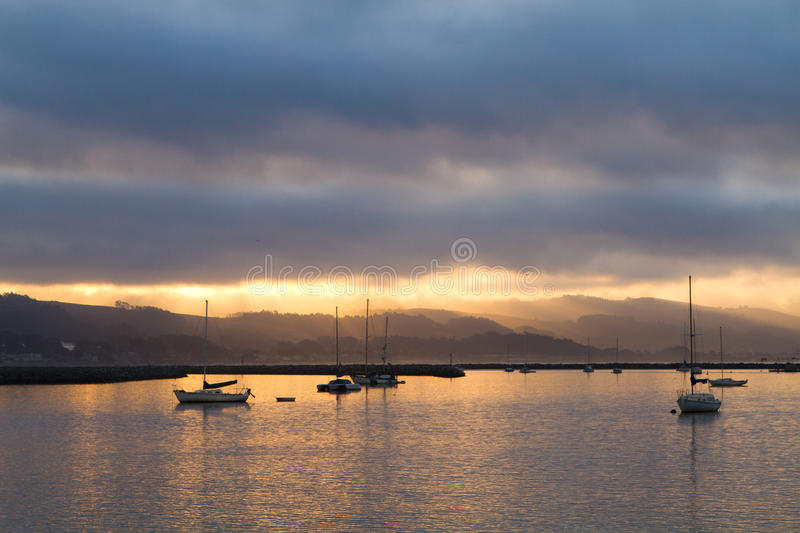 Harbor Sunrise royalty free stock photos