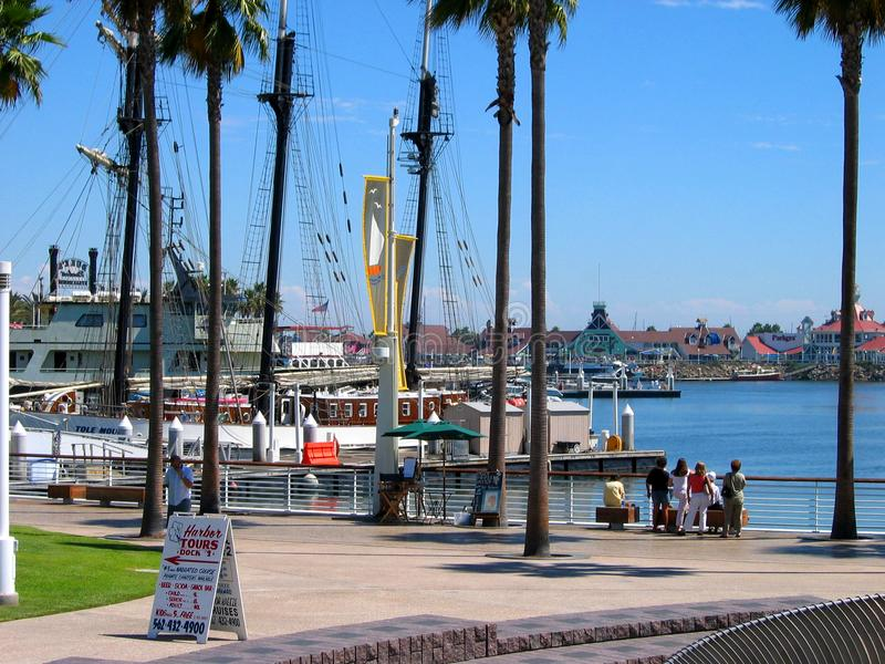 Harbor Tours. Rainbow Harbor, Long Beach, California, USA stock photo