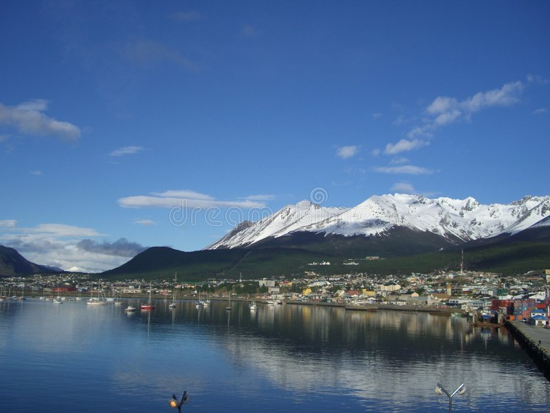 Harbor of Ushuaia, Argentina royalty free stock photography