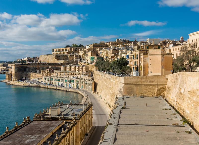 Harbor in Valletta royalty free stock photography