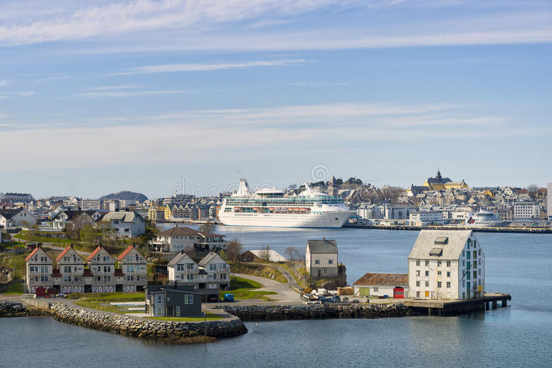Harbor View, Alesund Norway stock images