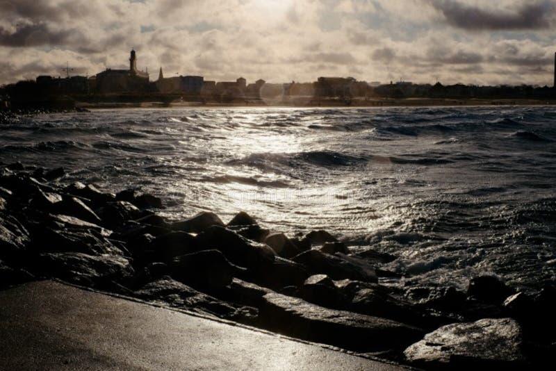 Harbor Warnemunde royalty free stock photo