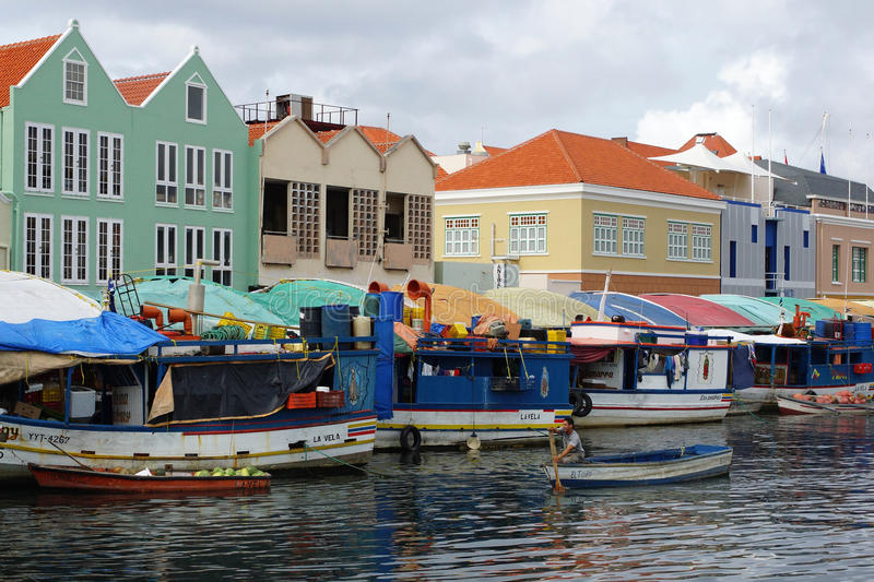 Harbor of Willemstad, Curacao, ABC Islands royalty free stock photography