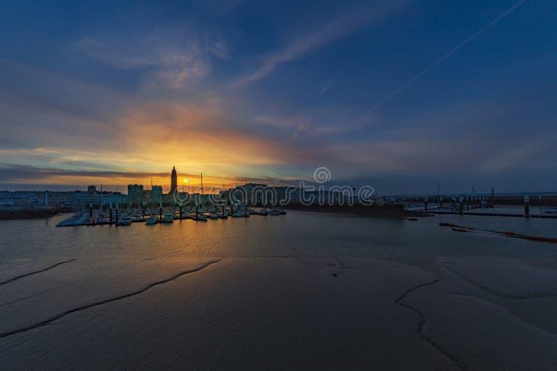 Harbord de Le Havre fotos de archivo