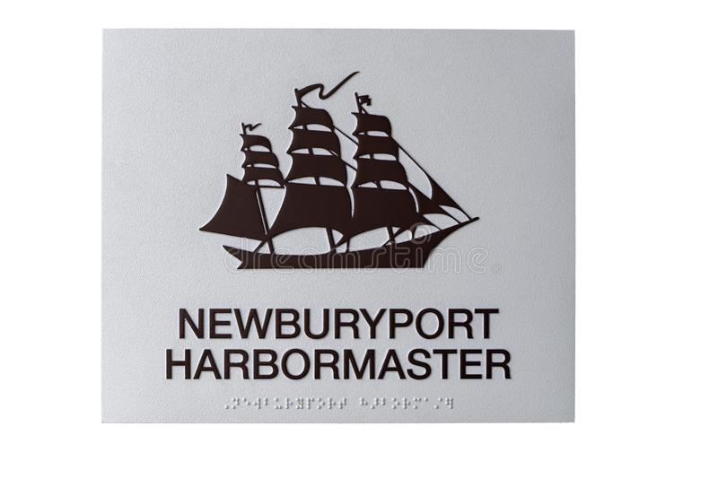 Harbormaster sign royalty free illustration