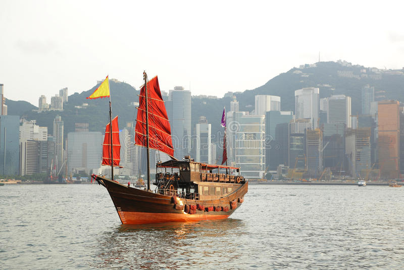 Harbou de Hong-Kong fotos de archivo libres de regalías