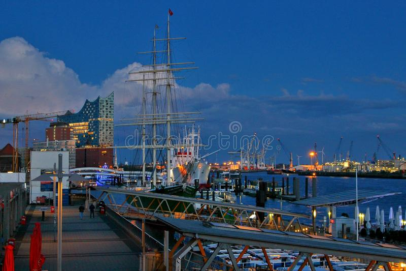 Harbour atmosphere royalty free stock photo