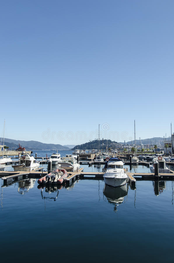 Download Harbour Boat Reflections In Summer Stock Image - Image: 28206971