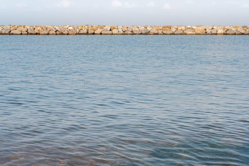 Harbour breakwater, Pattaya beach, Thailand, South East Asia.  stock photo