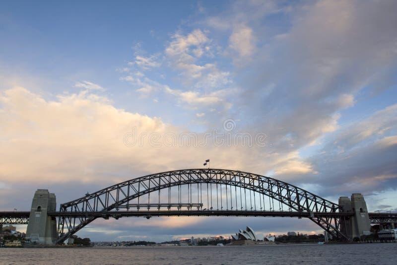Harbour Bridge. Sydney Harbour Bridge taken shortly after sunset royalty free stock images